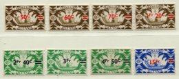10354 OCEANIE  N°172/9 **  Timbres De 1942 Avec Nouvelle Valeurs En Surcharge    1945   TB/TTB - Oceania (1892-1958)