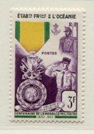 10358 OCEANIE  N°202 **  Centenaire De La Médaille Militaire    1952   TB/TTB - Oceania (1892-1958)