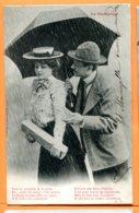 LIP811, Le Parapluie, Couple Avec Chapeau, Précurseur, Circulée  Sous Enveloppe - Fantaisies