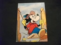 DISNEY TOPOLINO MICHEY MOUSE SU ALTALENA PIEGA ANG. - Disney