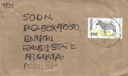 Nigeria 2003 Sapele Grant's Zebra Perf 14 Domestic Cover - Nigeria (1961-...)