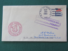 USA 1993 Cover From Ship USS Denver In Mission In Somalia To Texas Missent To Panama - Eagle - Flag - Etats-Unis