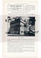 Page D'annuaire De 1925  Vins Vin  CHATEAU MARGAUX - 1900 – 1949