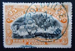 1900 Etat Indépendant Du Congo Yt 21 .  Landscapes. Inkissi Falls . Belle Oblitération Bleu LEOPOLDVILLE - Belgisch-Kongo