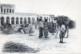 Société Djiboutienne D' édition - DJIBOUTI Marché Au Bois - Dessin De GODE - Publicités