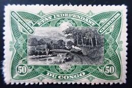1894 Etat Indépendant Du Congo Yt 24 . Railway Bridge Over The M'pozo . Neuf Trace Charnière - Congo Belge