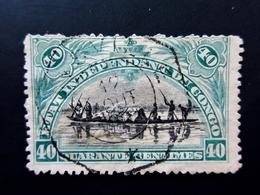 1896 Etat Indépendant Du Congo Yt 23 . Native Canoe . Oblitéré Used - 1894-1923 Mols: Gebraucht