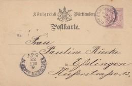 WURTEMBERG. ENTIER 5 Pf. 5 10 1882. OPPENWELLER POUR ESSLINGEN/ 2 - Wuerttemberg