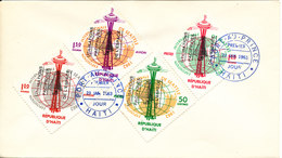 Haiti FDC 23-1-1963 Peaceful Uses Of The Outer Space Complete Set Of 4 - Haiti