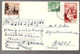 Cinderella PARIS Tour D 'Eifel  1948 > Basel  (418) - France