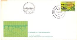 BRASIL 1980 FDC  COVER   CENTENARY OF ENGINEERING (DICE180148) - Ponti