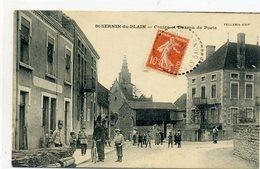 71 - SAINT SERNIN DU PLAIN - Centre Et Bureau De Poste - Other Municipalities
