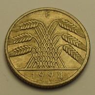 1924 - Allemagne - Germany - Weimar Republic - 10 REICHPFENNIG, (F), KM 40 - [ 3] 1918-1933 : Weimar Republic