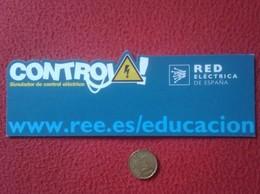 SPAIN MARCAPÁGINAS BOOK MARK BOOKMARK TROQUELADO RED ELÉCTRICA DE ESPAÑA CONTROL ELÉCTRICO CENTRALES...REE LUZ LIGHT - Marcapáginas