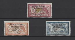 GRAND-LIBAN.  YT  N°36-37-38  Neuf *  1924 - Grand Liban (1924-1945)