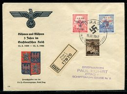Boehmen Und Maehren / 1942 / Int. Propaganda-Reco-Brief Mit Mi. 21, 83 Und 84 Entwertet Mit SSt. 86a (1/859) - Böhmen Und Mähren