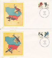 USA FDC 10-6-1978 Capex Canadian International Philatelic Exhibition Complete Set Of 4 On 4 Covers With SILK Cachet - First Day Covers (FDCs)