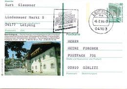"BRD Bildpostkarte 80 Pf.WSt.Sehenswürdigkeiten Zeche Zollern P151 X 2/27 ""Bad Kohlgrub"" MWST 4.2.94 LEIPZIG 1 - [7] Repubblica Federale"