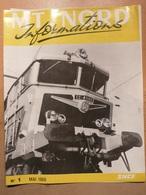 SNCF MT Nord N1 1968 Apprentis Lens Mitry Nominations Mutations Retraites Bethune Douai Valenciennes - Trains