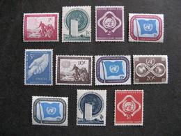 O.N.U. Siège De New-York: Série N° 1 Au N°11, Neufs XX. - New York -  VN Hauptquartier