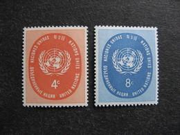 O.N.U. Siège De New-York: TB Paire N° 60 Et N°61, Neufs XX. - Ungebraucht