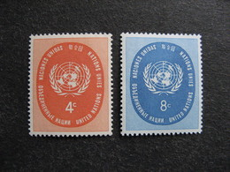O.N.U. Siège De New-York: TB Paire N° 60 Et N°61, Neufs XX. - New York -  VN Hauptquartier