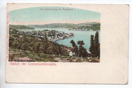 SALUT DE CONSTANTINOPLE (TURQUIE) - VUE PANORAMIQUE DU BOSPHORE // TàD BFE LEVANT AU DOS - Turkije
