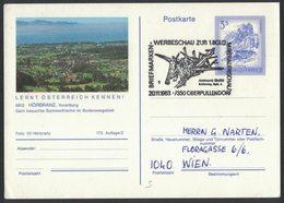 JP385  Austria, Österreich - Special Postmark Oberpullendorf 1983 Mineral Show / Mineralienschau - Antimonit - Minerali