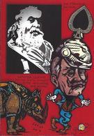 CPM Rhinocéros Satirique Caricature Tirage Limité Maçonnique PIKE - Rhinocéros