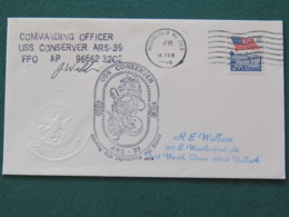 USA 1994 Cover From Ship USS Conserver In Mission In Desert Storm To Texas - Flag - Horse - Honolulu - United States