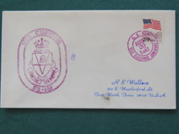 USA 1992 Cover From Ship USS Cushing In Mission In Desert Storm To Texas - Flag - United States