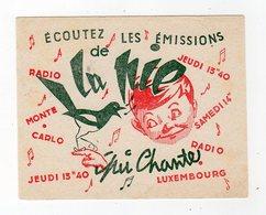 Dec18     83413    Buvard    Radio Luxembourg - Cinéma & Théatre