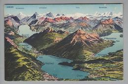 """AK CH ZG Zug """"Zugersee"""" Vogelperspektive 1920-07-21 Wehrli AG - ZG Zoug"""