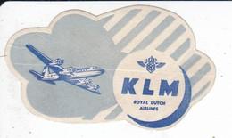 ANTIGUA ETIQUETA DE LA COMPAÑIA AEREA KLM (AVION-PLANE) - Etiquetas De Equipaje