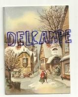 Mignonnette Double De Voeux. Passant Dans Une Ville Enneigée. Coloprint 11169/5. 8,5/11 Cm - Neujahr