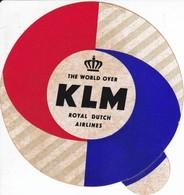 ANTIGUA ETIQUETA DE LA COMPAÑIA AEREA KLM (AVION-PLANE) - Étiquettes à Bagages