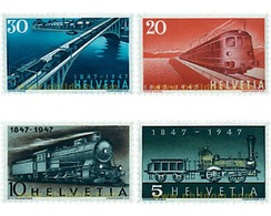 Ref. 59002 * MNH * - SWITZERLAND. 1947. CENTENARY OF THE RAILWAYS . CENTENARIO DEL FERROCARRIL - Switzerland