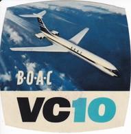 ANTIGUA ETIQUETA DE LA COMPAÑIA AEREA BOAC DE KUALA LUMPUR (AVION-PLANE) VC10 - Etiquetas De Equipaje