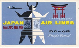 ANTIGUA ETIQUETA DE LA COMPAÑIA AEREA JAPAN AIRLINES (AVION-PLANE) - Etiquetas De Equipaje