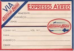 ANTIGUA ETIQUETA DE LA COMPAÑIA AEREA AEROVIAS DE BRASIL (AVION-PLANE) - Etiquetas De Equipaje