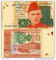 PAKISTAN        20 Rupees        P-55d         2010        UNC  [sign. Shahid Kardar] - Pakistan