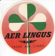 ANTIGUA ETIQUETA DE LA COMPAÑIA AEREA AER LINGUS (AVION-PLANE) IRISH AIR LINES - Etiquetas De Equipaje
