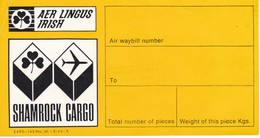 ANTIGUA ETIQUETA DE LA COMPAÑIA AEREA AER LINGUS (AVION-PLANE) IRISH AIR LINES - Baggage Labels & Tags