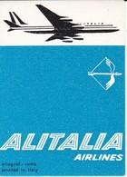 ANTIGUA ETIQUETA DE LA COMPAÑIA AEREA ALITALIA AIRLINES (AVION-PLANE) - Etiquetas De Equipaje