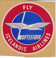 ANTIGUA ETIQUETA DE LA COMPAÑIA AEREA ICELANDIC AIRLINES (AVION-PLANE) - Etiquetas De Equipaje