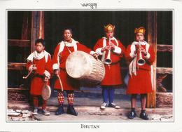 Folk Music Bhutan, Postcard From Samtse Bhutan ., Sent To Andorra, With Arrival Postmark - Bhoutan