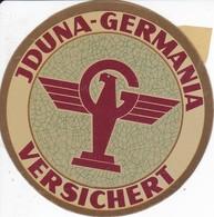 ANTIGUA ETIQUETA DE LA COMPAÑIA AEREA JDUNA GERMANIA (AVION-PLANE) VERSICHERT - Etiquetas De Equipaje