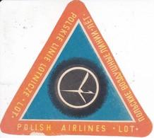 ANTIGUA ETIQUETA DE LA COMPAÑIA AEREA POLISH AIRLINES (AVION-PLANE) - Etiquetas De Equipaje