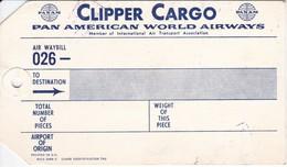 ANTIGUA ETIQUETA DE LA COMPAÑIA AEREA PAN AMEICAN WORLD AIRWAYS (AVION-PLANE) - Etiquetas De Equipaje
