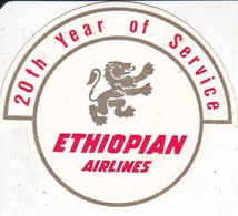 ANTIGUA ETIQUETA DE LA COMPAÑIA AEREA ETHIOPIAN AIRLINES (AVION-PLANE) - Etiquetas De Equipaje